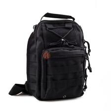 Black Molle Tactical Sling Chest Assault Pack Messenger Shoulder Bag Backpack