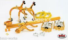 MX1000 - MX121 Tech 3 Package Deal In Gold - Old School BMX - Dia Compe