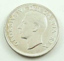 1951 Canada Silver Dollar Coin - King George VI - AU Condition