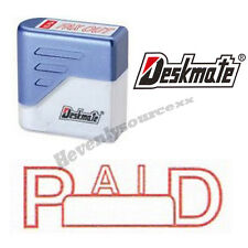 { PAID } Deskmate Red Pre-Inked Self-Inking Rubber Stamp #KE-P01B