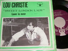"7"" - Lou Christie / Sweet London Lady & Love is over - 1970 Dutch # 2185"