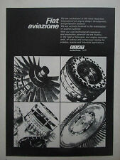 10/1973 PUB FIAT AVIAZIONE AVIATION HELICOPTER TURBINE COMPRESSOR BLADE AD
