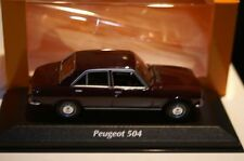 Maxichamps Peugeot 504 1970 Dark Red in 1:43 scale 112500