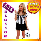F66 Ladies Sports Referee Umpire Football Soccer Fancy Dress Costume + Whistle