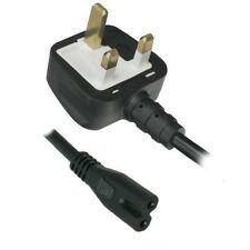2-Pin Figure of 8 Power Lead Mains Cable UK Plug for Sony VAIO Laptop Charger uk