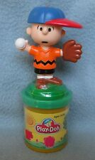 "CHARLIE BROWN BASEBALL 3"" RUBBER STAMP FIGURE Unopened Play-Doh Vintage 1990's"