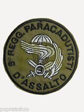 Patch 9 Col Moschin Incursori Paracadutisti EI per Mimetica Vegetata Toppa Verde