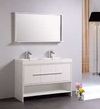"DOWELL 48"" 007 48 01 MODERN DOUBLE SINK BATHROOM VANITY WHITE COLOR"