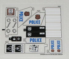Lego New Stickers For Set 60130 Police Prison Island City Town
