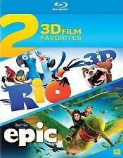 Rio Epic Movies Blu-Ray 3D 2 Disc Set Movie New