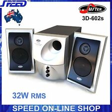 Juster 3D-602 Multimedia 2.1 Speaker System for Desktop PC, MP3, iPad, iPhone...