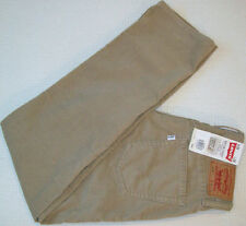 NEW! LEVI 514 Jeans 30x30 Slim Fit Straight Low LEVI'S brown cord Marked Irreg
