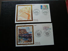 FRANCE - 2 enveloppes 1er jour 1990 (cap canaille/france-bresil) (cy45) french