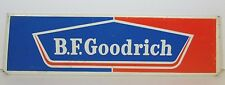 """OLD 12"""" VINTAGE 1960s BF B.F. GOODRICH CAR TIRES GAS OIL METAL ADVERTISING SIGN"""