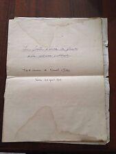 """D23  Tesi di laurea manoscritta del 1916 - """" Le ferite d'arma da fuoco della .."""""""