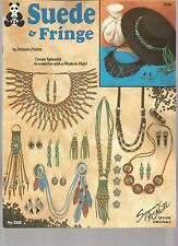 Suede & Fringe Jewelry Beading Patterns & Instructions Necklaces Key Chains X13