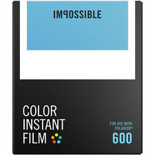 Impossible Color Instant 4514 Film for Polaroid 600 Cameras, Classic White Frame