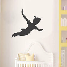 Peter pan shadow wall decal pépinière vinyle autocollant de noël enfants
