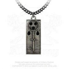 ALCHEMY ENGLAND Gothic Pewter Jewellery Pendant Chain NECKLACE Death Tally Ingot