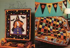 Miss Witchy Wallquilt  & Hair-Raising Halloween  Quilt  (Pattern Only)