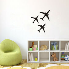 Three Airplanes Plane Aircraft Wall Decal Room Decor Home Vinyl Sticker Mural
