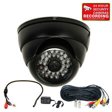Security Camera w/ SONY CCD Audio Mic Outdoor IR Day Night Vision Wide Angle m2h