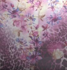 Silk Scarf Soft Sheer Half Sarong Wrap Leopard Lotus Flower Magnolia Assorted