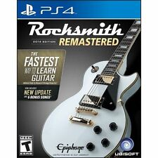 BRAND NEW! Rocksmith 2014 Edition Remastered (PlayStation 4 2016) Cable Included
