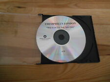 CD Pop Theophilus London - Why Even Try (1 Song) Promo WARNER MUSIC disc only
