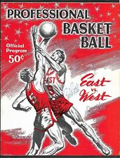 1958 NBA All-Stars East/West Signed x18 Program + 2 Ticket Stubs Russell/Cousy!