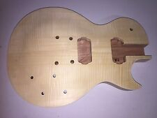 Body Only BULLDOG LP-S Flame Top Guitar Body Blank Les Paul Project Kit