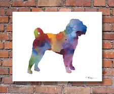 SHAR PEI Contemporary Watercolor Abstract ART Print by Artist DJR
