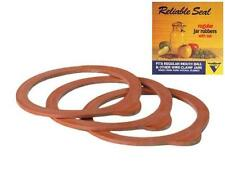 Rubber Jar Seals (Regular Size) Rings for Latch/Wire Lids *3-Pack* NEW!