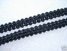"GB01-3 3/8"" Black Trim Gimp Braid Lace Edge Sewing/Upholstery/Designer 10yards"