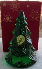 Waterford Crystal Green Figural Christmas Tree Figurine New in Box