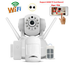 720P HD Wifi Webcam IP Camera Alarm System for Home Burglar Security Sensors