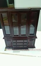 Dolls House Emporium Victorian mahogany ornate cabinet 1.12th scale - new, boxed