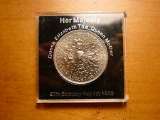 Lovely Uncirculated British Queen Mother 80Th Birthday Crown Coin 1980 In Case