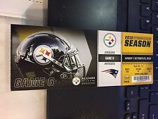 2016 PITTSBURGH STEELERS VS NEW ENGLAND PATRIOTS TICKET STUB 10/23 TOM BRADY