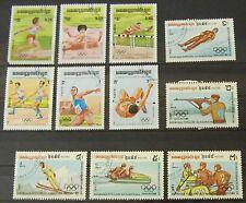 Kambodscha 1984 Olympische Spiele Los Angelos und Sarajevo Lot Gummiert