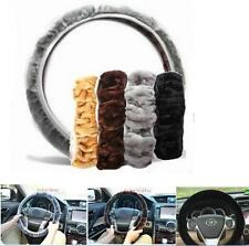NEW Soft Plush Fuzzy Auto Car Steering Wheel Cover Warm For Winter