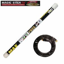 Magic Stick TV MAX HD Antenna 20 ft Coaxial Indoor/Outdoor HDTV Digital Channels
