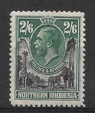 N.RHODESIA, KGV 1925 ISSUE,  2/6d  SG 11, M/MINT, CAT £24