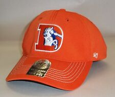 Denver Broncos 47 Brand Game Time Closer Hat Stretch Fit Flex Cap Orange Retro