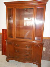 Fine 1940's-1950's Mahogany Breakfront China Cabinet Excellent Piece
