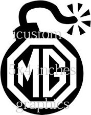 MG Logo Auto Vinile Adesivo Bomba RALLY STOCK RACING grafica decalcomanie lato posteriore JDM