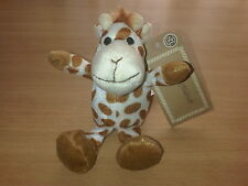 With Tags TESCO BABY GIRAFFE SOFT TOY CREAM BROWN COMFORTER CUDDLE ME FRIENDS