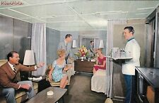 Postcard Ship Home Lines SS Oceanic Cabin Deluxe