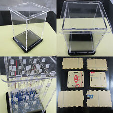 Transparent Acrylic Cube Shell für 4x4x4 3D LightSquared 2*5*7MM LED Cube Hot