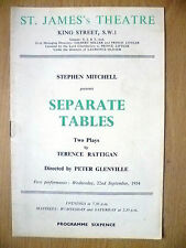 St. James's Theatre Programme 1954- S mitchell's SEPARATE TABLES by T Rattigan